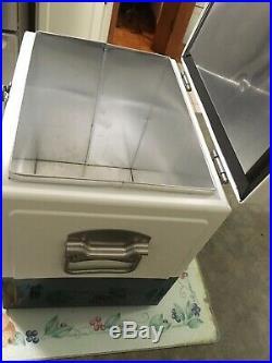 Metal Corona Beer Cooler. NEW. Stainless Steel. Vintage Style. Rare