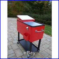 Metal Ice Cooler Outdoor Meat Chest Backyard Camping Corona Bar Grill Party Bbq