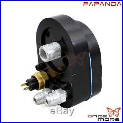 Metal Reefer Oil Cooler Fan Cooling System Kit For Harley Touring 2009-16 Black