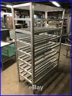 Metals Inc Aluminum 48 x 24.5 Commercial Walkin Cooler Storage Rack 8 Tier