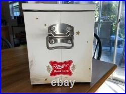 Miller High Life Beer Retro Metal Cooler Chest Girl On Moon 18 X 12.5 x 9