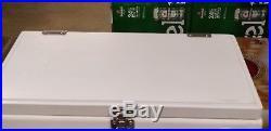 Miller Lite metal cooler with wood top & bottle opener Brand New