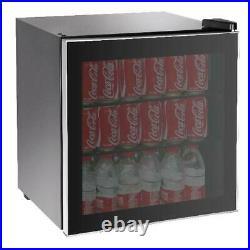 Mini Beverage Refrigerator 70 Can Glass Door Countertop Cooler Soda Beer New