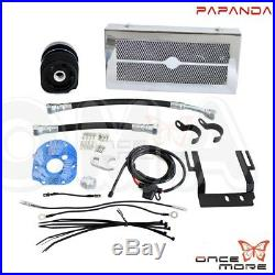 Motorcycle Chrome Reefer Oil Cooler Fan Cooling System For Harley Softail 01-17