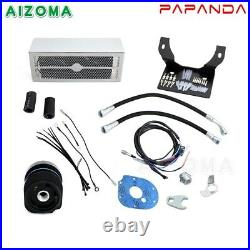 Motorcycle Reefer Oil Cooler Oil Cooling System For Harley Touring 99-08 Chrome