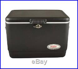 NEW Coleman 54 Quart Steel Large Cooler Hold 85 Cans Ice Box Summer Outdoor Camp