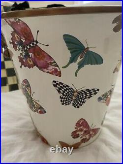 NEW MacKenzie Childs Butterfly Enamel Wine Cooler Planter Ice Bucket Retired