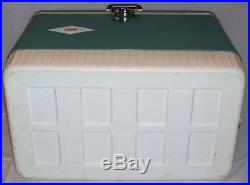 NOS rare vintage coleman cooler snow lite ice box with bottle opener instructions