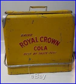 NR vintage Metal RC Cola Soda Royal Crown Picnic Cooler Progress Embossed