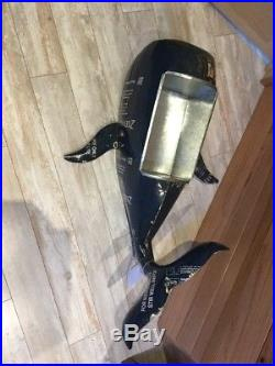 New Handmade Metal Recycled Material Blue whale nautical Beverage Ice Cooler