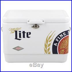 New Miller Lite Coleman 54 Qt Capacity Steel Belted Portable Cooler Miller Lite