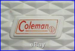 ORIGINAL 1954 Antique METAL Coleman Cooler Diamond Logo Aqua Teal Vintage Steel