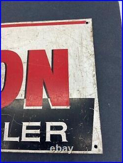 Original Antique Wilson Bulk Milk Cooler Metal Advertisement Sign