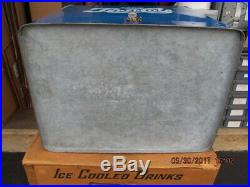 PEPSI COLA BLUE METAL PICNIC COOLER 1953 IN BOX EXC COND WithSANDWICH BOX