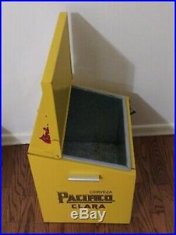 Pacifico Beer Cooler Metal Ice Box Advertising Cerveza Mexico Aluminum Vintage