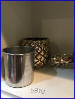 Pineapple Ice Bucket Cooler Metal Retro
