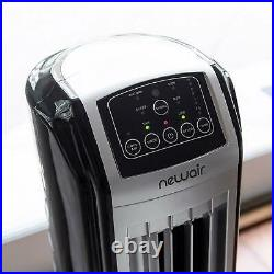 Portable Evaporative Air Cooler, Humidifier, Tower Fan with Remote, Swamp Cooling