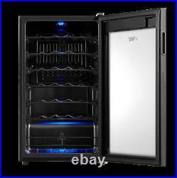 Premium 34 Bottle Wine Cooler Chiller Fridge Refrigerator Beverage Led Black New