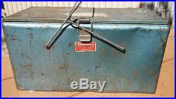 Preway VINTAGE RETRO COOLER GREEN 1950s HEAVY METAL CHEST