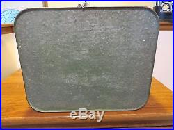 RARE 1950s MERIDIAN GREEN METAL COOLER SANDWICH TRAY BOTTLE OPENER DRAIN PLUG