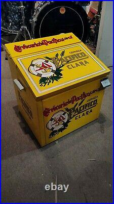 RARE Pacifico Clara Cerveza Beer Metal Cooler Ice Chest Man Cave HARD TO FIND