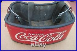 RARE Vintage 1930s-40s Stadium Vendors Coca Cola Bottle Metal Cooler withopener