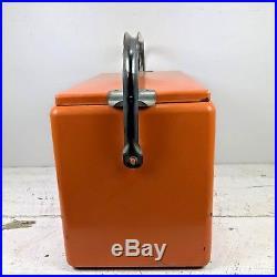 RARE Vintage 1950's Orange Nesbitt's Soda Cooler Metal Retro Mid Century