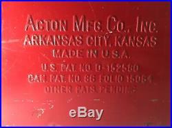 RARE! Vintage 1950s Acton Drink COCA COLA Metal Picnic Cooler All Original