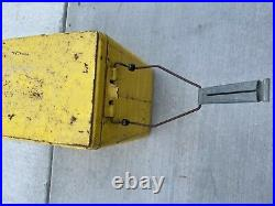 RARE Vintage Drink ROYAL CROWN COLA Yellow Metal Ice Chest Cooler