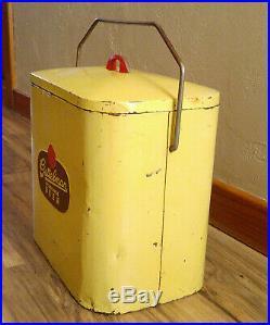 RARE Vintage Retro Metal Gettelman Milwaukee Beer Picnic Lunch Cooler