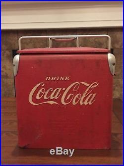Rare 1950s Acton 6 Pack Coca Cola Mini Junior Soda Metal Coke Cooler 12x12x9