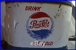 Rare Selmix Pepsi Cola Dispenser Cooler Outboard Motor Metal Sign Advertising
