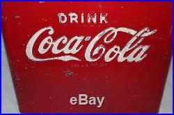 Rare Small Vintage 1950's Coca Cola Soda Pop 12 Embossed Metal Cooler Sign