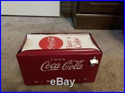Rare Vintage 1950s Tome Mexican Coca Cola Napkin Holder Cooler Bien Fria Metal