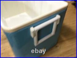 Rare Vintage 1960's 70's Canadian Coleman Low Boy Large Cooler Azure Blue Nice