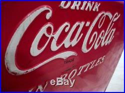 Rare Vintage Metal Coca Cola Cooler in Bottles 1950s Large Heavy Tray Cavalier