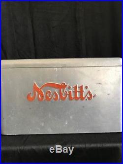 Rare Vintage Nesbitt's Orange Soda Original Inner Tray Metal Portable Cooler