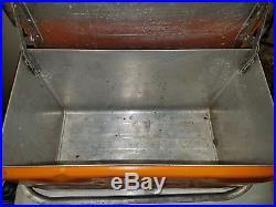 Rare Vintage Orange Nesbitts Soda Orignal Metal Cooler