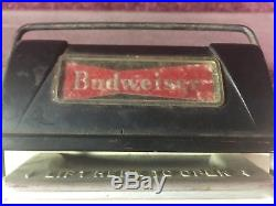 Rare Vtg Metal Anheuser-Busch Budweiser Beer Clydesdales Cooler Chest Man Cave