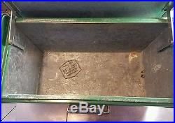 Reduced $$ UNBELIEVABLE CONDITION VINTAGE POLORON THERMASTER METAL GREEN COOLER