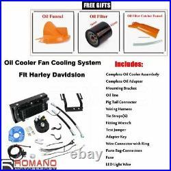 Reefer Oil Cooler Fan Cooling System For Harley Softail FLST FXST FLS 2001-2017