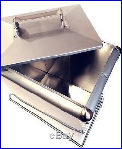 Retro Cool box Metallic Silver Cooler 17L Vintage Coolbox wedding present AAC