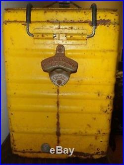 Royal Crown Cola Antique Metal Display Cooler Soda Advertising 1950's USA Made