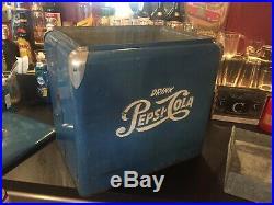 SCARCE VINTAGE SODA AMERICANA Vintage Circa 1950s Pepsi Metal Cola Cooler