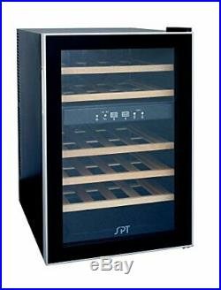 SPT WC-2463W Dual-Zone Thermo-Electric Wine Cooler with Wooden Shelves 24 Bo