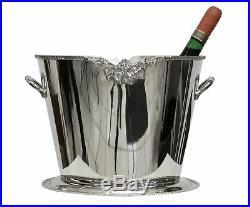 Sektkühler Weinkühler Flaschenkübel Sektkübel Metall 34cm Schale wine cooler