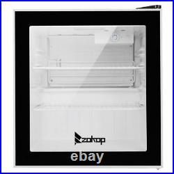 Single Door Mini Fridge Beverage Cooler Refrigerator Dorm Room Party LED Light