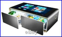 Smart Home Capacitive Touchscreen Coffee Table with Refrigerated Cooler Drawers