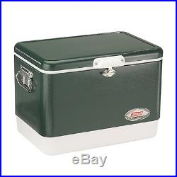 Steel Cooler Coleman Vintage Stainless Steel Outdoor Camping Ice Chest Quart NEW