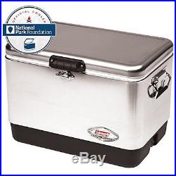 Steel Cooler Stainless handles comfortable carrying camping Picnic Outdoor